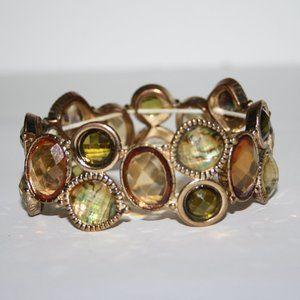 "Gold 8"" bracelet with beautiful Autumn colors"
